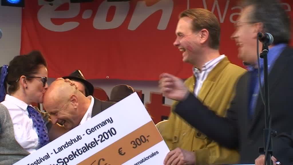 Stadtspektakel Landshut - Maple Staplegun, OB Hans Rampf